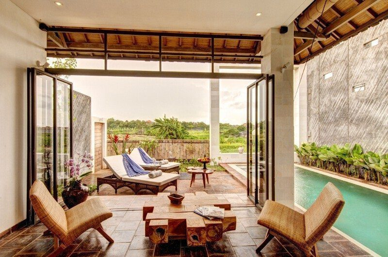 Abaca Villas Pool Side Seating Area, Petitenget | 5 Bedroom Villas Bali