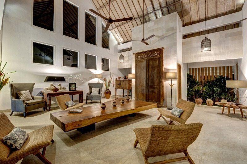 Abaca Villas Living Area, Petitenget | 5 Bedroom Villas Bali