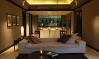 Soori Bali Living and Dining Area at Night, Tabanan | 5 Bedroom Villas Bali