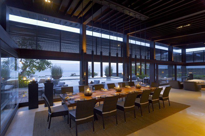 Soori Bali Dining Area with Sea View, Tabanan | 5 Bedroom Villas Bali