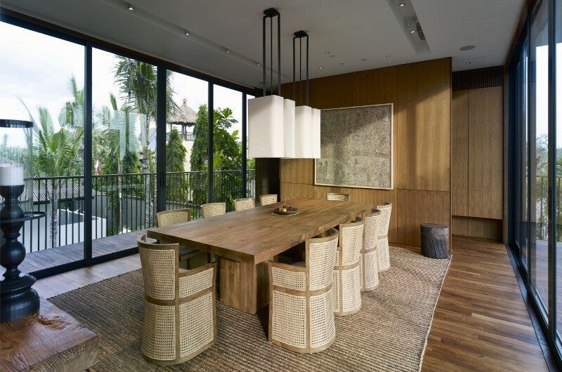 Arnalaya Beach House Dining Area, Canggu   5 Bedroom Villas Bali