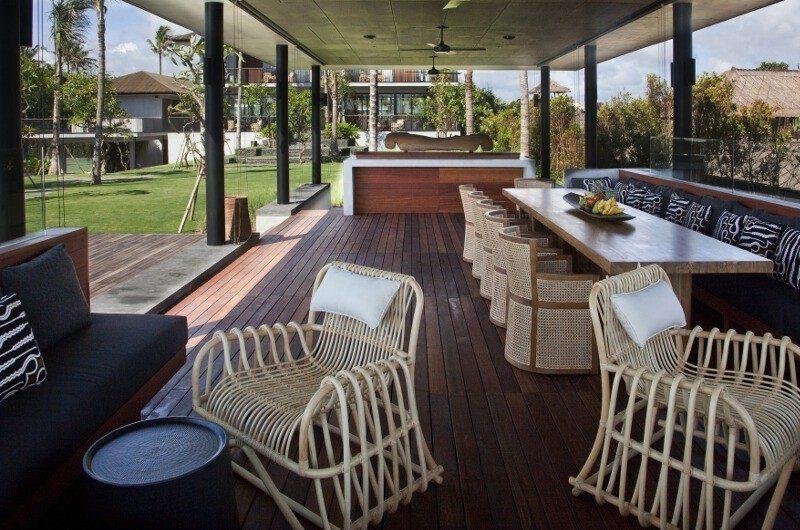 Arnalaya Beach House Outdoor Dining Area, Canggu   5 Bedroom Villas Bali