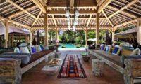 Bali Ethnic Villa Living Area with Pool View, Umalas | 5 Bedroom Villas Bali