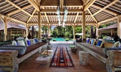 Bali Ethnic Villa Living Area with Pool View, Umalas | 5 Bedroom Villas Bali