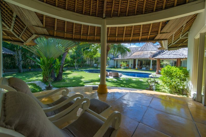 Casa Lucas Seating Area with Pool View, Seminyak | 5 Bedroom Villas Bali