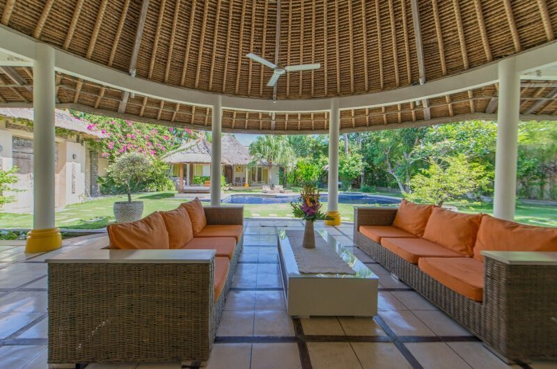 Casa Lucas Living Area with Pool View, Seminyak | 5 Bedroom Villas Bali