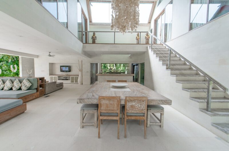 Casa Mateo Living and Dining Area with Up Stairs, Seminyak | 5 Bedroom Villas Bali