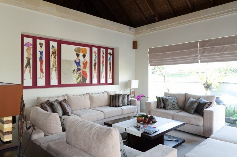 Kemala Villa Living Area, Canggu | 5 Bedroom Villas Bali
