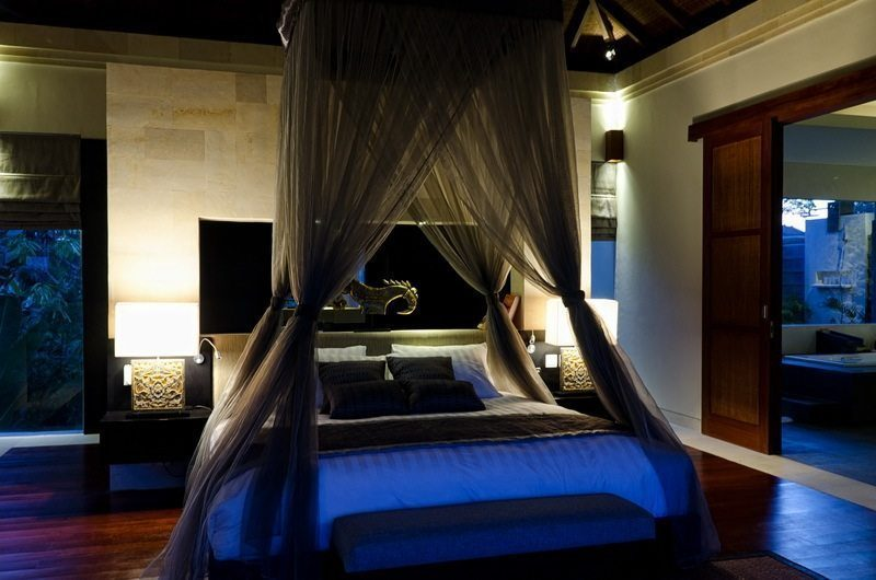 Kemala Villa Bedroom at Night, Canggu | 5 Bedroom Villas Bali