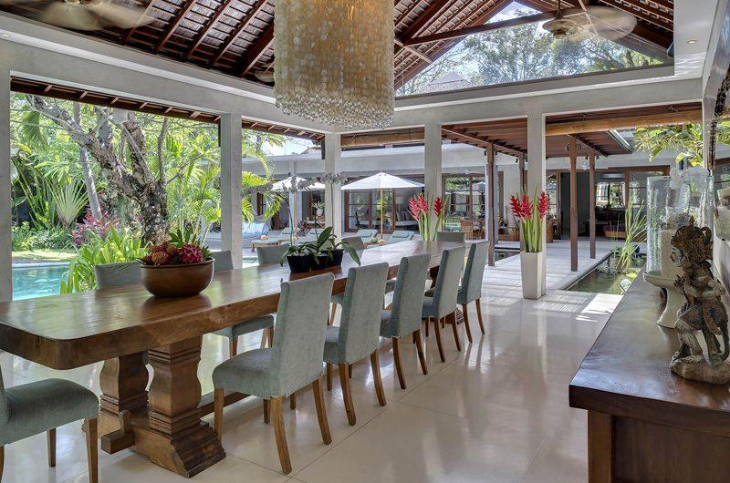 Lataliana Villas Dining Area with Pool View, Seminyak | 5 Bedroom Villas Bali