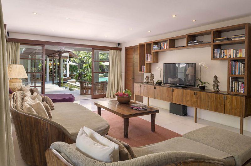 Lataliana Villas Lounge Area with TV, Seminyak | 5 Bedroom Villas Bali