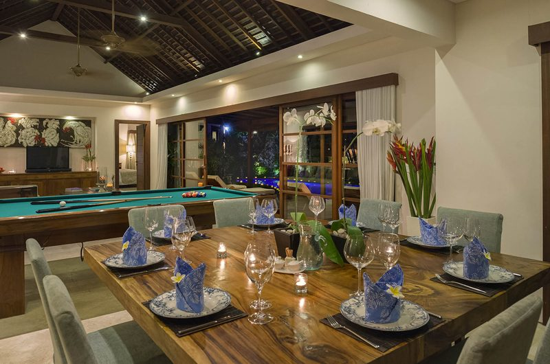 Lataliana Villas Dining Table with Crockery, Seminyak | 5 Bedroom Villas Bali