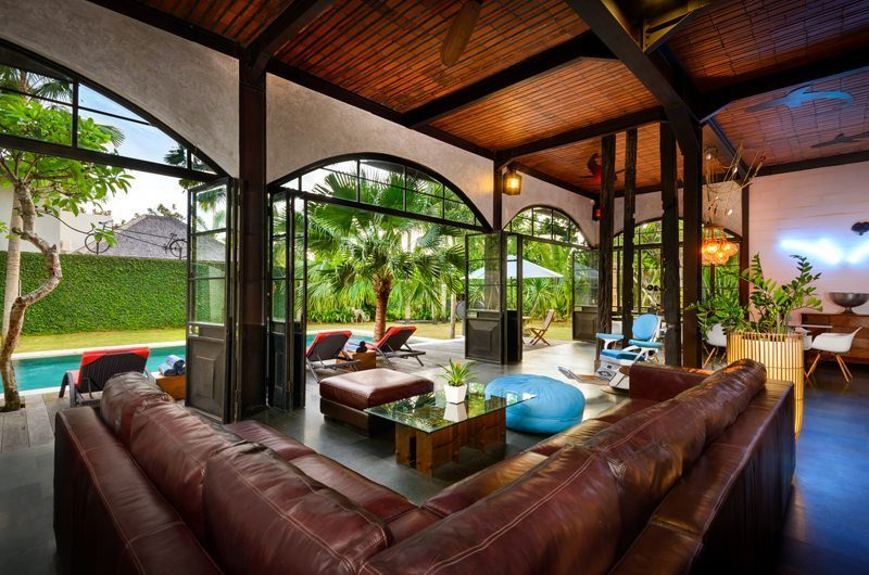 Niconico Mansion Living Area with Pool View, Petitenget | 5 Bedroom Villas Bali