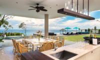 Pandawa Cliff Estate Dining Area with Pool View, Ungasan | 5 Bedroom Villas Bali