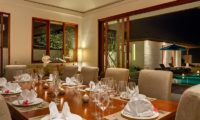 Pandawa Cliff Estate Dining Area at Night, Ungasan | 5 Bedroom Villas Bali