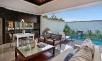Peppers Seminyak Pool Side Living and Dining Area, Seminyak | 5 Bedroom Villas Bali