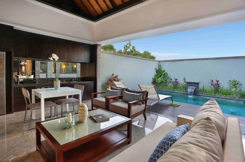 Peppers Seminyak Pool Side Living and Dining Area, Seminyak | 5 Bedroom Villas Bali