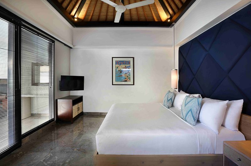 Peppers Seminyak Bedroom with TV, Seminyak | 5 Bedroom Villas Bali