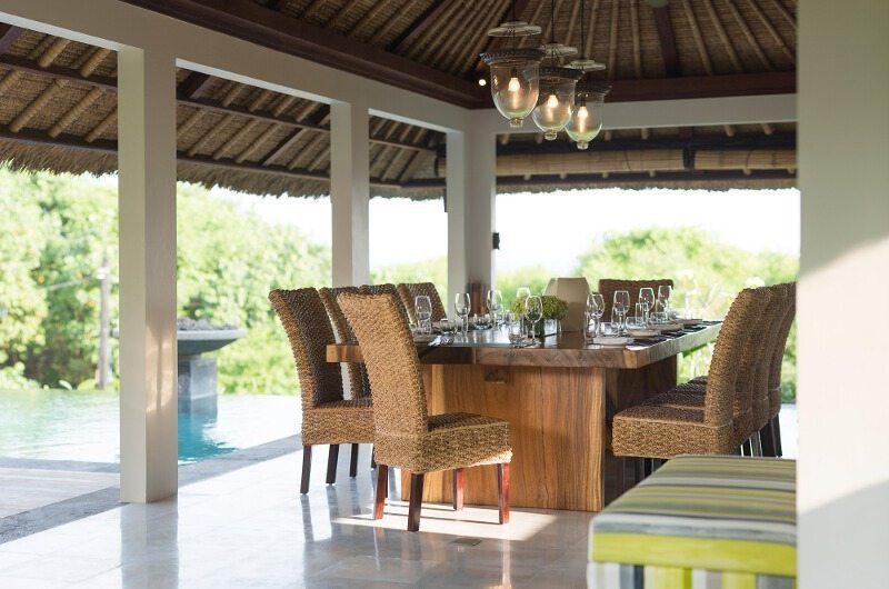 Seseh Beach Villas Pool Side Dining, Seseh | 5 Bedroom Villas Bali