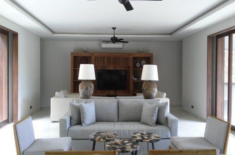 Seseh Beach Villas Living Area with TV, Seseh | 5 Bedroom Villas Bali