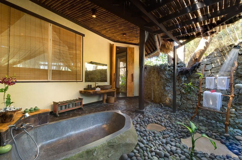 Taman Ahimsa Semi Open Bathroom with Bathtub, Seseh | 5 Bedroom Villas Bali