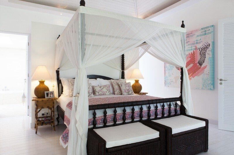 The Cotton House Four Poster Bed with Table Lamps, Seminyak | 5 Bedroom Villas Bali