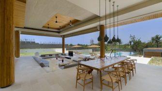 The Iman Villa Living and Dining Area, Pererenan | 5 Bedroom Villas Bali