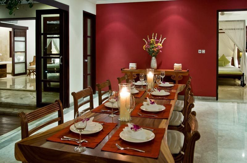 The Residence Indoor Dining Area, Seminyak | 5 Bedroom Villas Bali