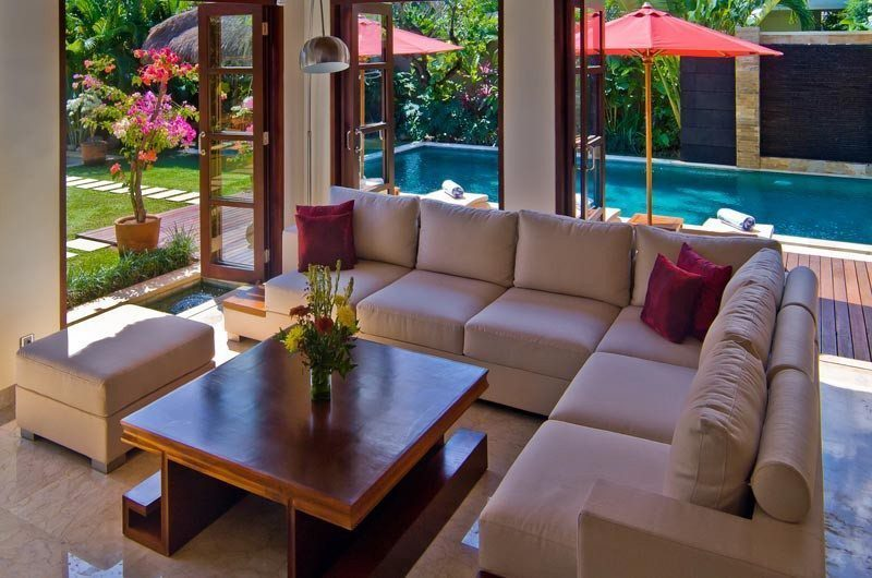 The Residence Pool Side Living Area, Seminyak | 5 Bedroom Villas Bali