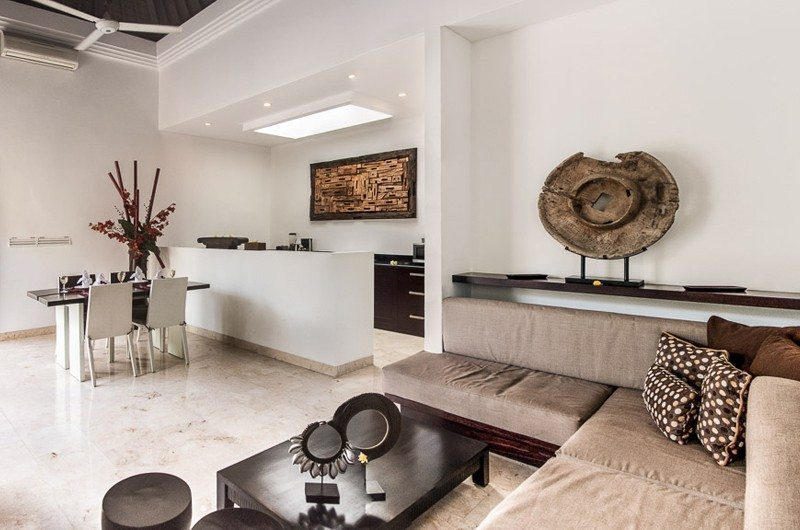 The Residence Indoor Living and Dining Area, Seminyak | 5 Bedroom Villas Bali