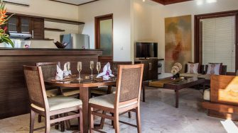 The Residence Living, Kitchen and Dining Area, Seminyak | 5 Bedroom Villas Bali