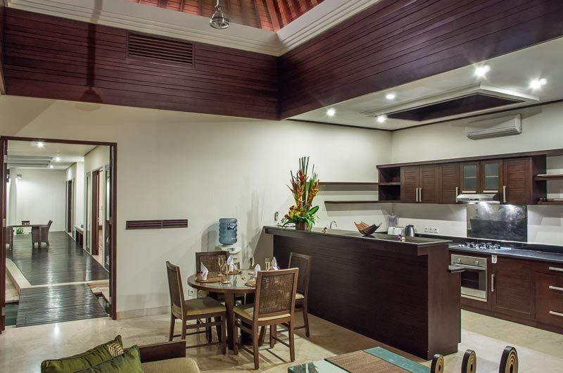 The Residence Kitchen and Dining Area, Seminyak | 5 Bedroom Villas Bali