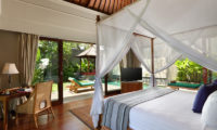 The Shanti Residence Bedroom with TV and Pool View, Nusa Dua | 5 Bedroom Villas Bali