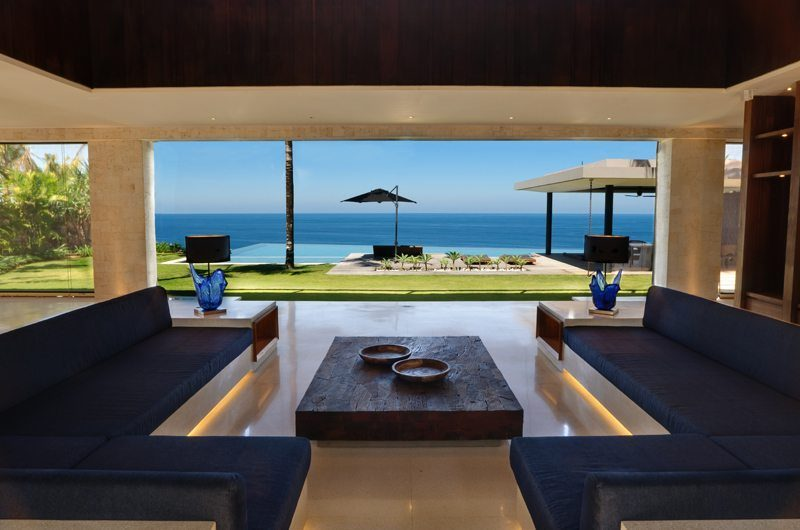 The Ungasan Clifftop Resort Villa Jamadara Living Area with Sea View, Uluwatu | 5 Bedroom Villas Bali