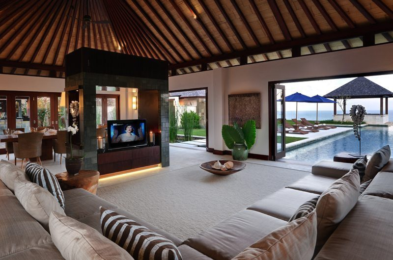 The Ungasan Clifftop Resort Villa Nora Living Area with Pool View, Uluwatu | 5 Bedroom Villas Bali