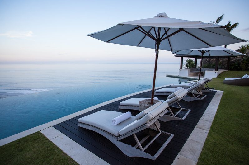 The Ungasan Clifftop Resort Villa Pawana Pool Side Sun Loungers, Uluwatu | 5 Bedroom Villas Bali