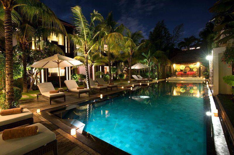 Villa Abakoi Swimming Pool at Night, Seminyak | 5 Bedroom Villas Bali