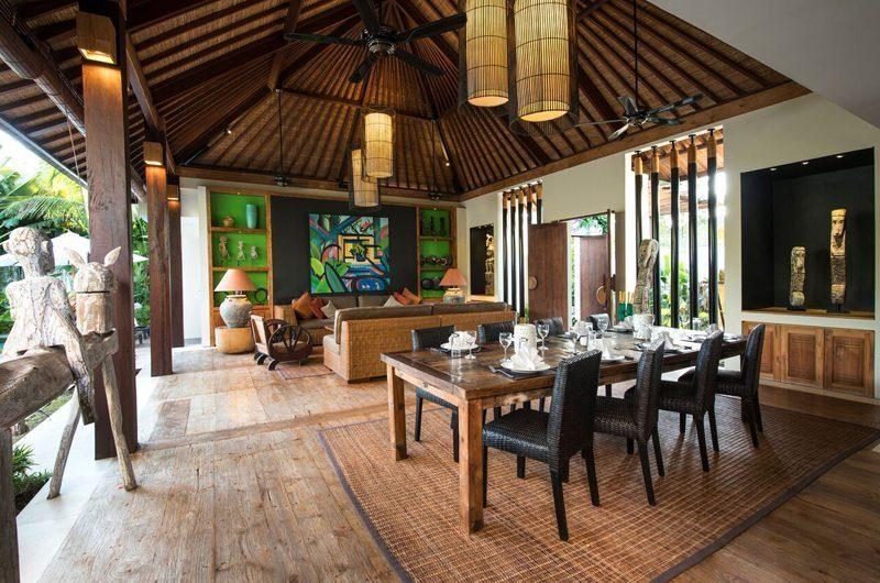 Villa Abakoi Dining Area with Crockery, Seminyak | 5 Bedroom Villas Bali