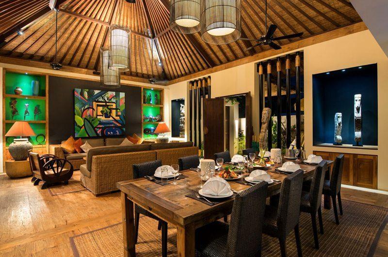 Villa Abakoi Living and Dining Area, Seminyak | 5 Bedroom Villas Bali