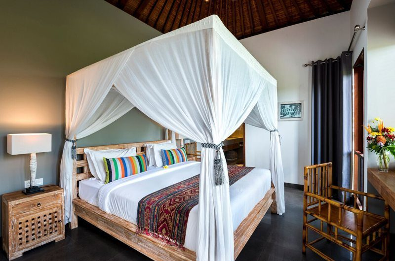 Villa Abakoi Four Poster Bed with Study Table, Seminyak | 5 Bedroom Villas Bali