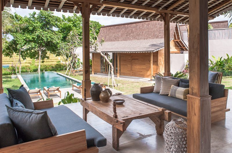 Villa Alea Outdoor Lounge with Pool View, Kerobokan | 5 Bedroom Villas Bali