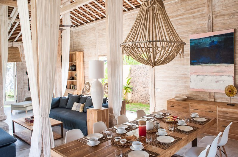 Villa Alea Living and Dining Area, Kerobokan | 5 Bedroom Villas Bali