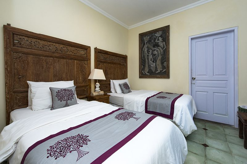 Villa Anyar Bedroom with Twin Beds, Umalas | 5 Bedroom Villas Bali