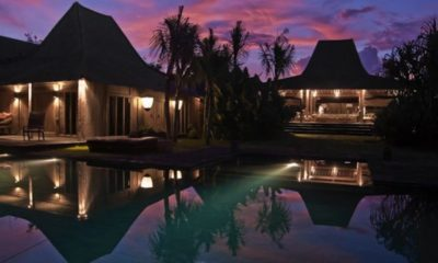 Villa Asli Swimming Pool at Night, Canggu | 5 Bedroom Villas Bali