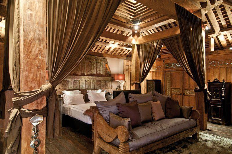 Villa Asli Bedroom with Wooden Floor, Canggu | 5 Bedroom Villas Bali
