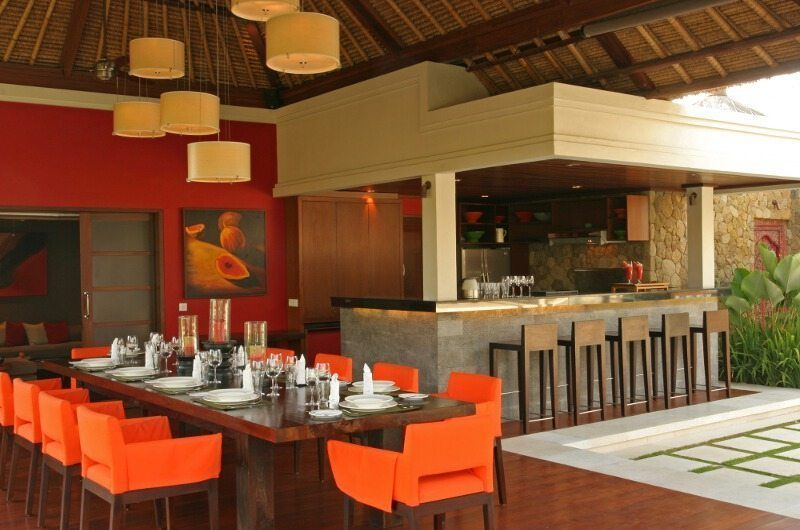 Villa Asta Dining Area, Batubelig | 5 Bedroom Villas Bali