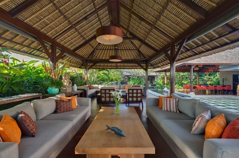 Villa Asta Open Plan Lounge Area, Batubelig | 5 Bedroom Villas Bali