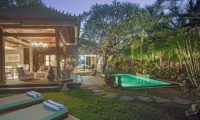 Villa Avalon Bali Gardens and Pool at Night, Canggu   5 Bedroom Villas Bali