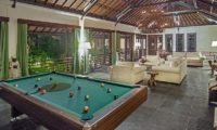 Villa Avalon Bali Living Room with Billiard Table, Canggu   5 Bedroom Villas Bali