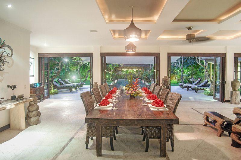 Villa Avalon Bali Dining Area with Pool View, Canggu   5 Bedroom Villas Bali
